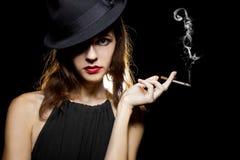 Female Smoker Stock Photography