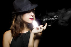 Female Smoker Stock Photos