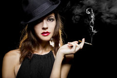 Female Smoker Stock Images