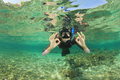 Female Snorkeler Royalty Free Stock Images