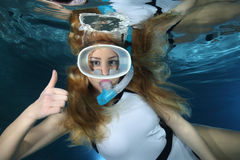 Female Snorkeler Royalty Free Stock Photography