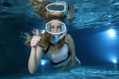 Female Snorkeler Stock Photo