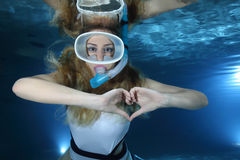 Female Snorkeler Stock Photos