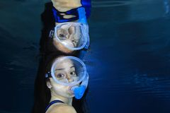 Female snorkeler Stock Image
