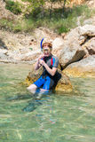 Female Snorkeler Stock Photography