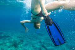 Female snorkeling Royalty Free Stock Images