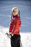 Female Snow Skiier Royalty Free Stock Photography