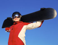 Female snowboarder Stock Photos