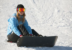 Female Snowboarder Royalty Free Stock Photo