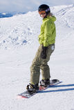 A female snowboarder Stock Photos