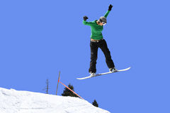 Female snowboarder Royalty Free Stock Images