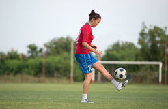 Female soccer Royalty Free Stock Photography