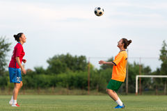 Female soccer Stock Photos