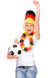 Female soccer fan Royalty Free Stock Image