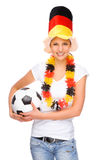 Female soccer fan Stock Photography