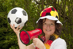 Female soccer Fan Stock Photos