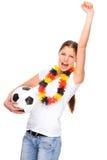 Female soccer fan Royalty Free Stock Photos
