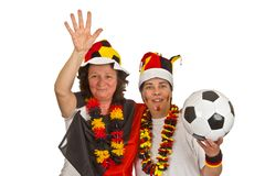 Female Soccer Fans Stock Images