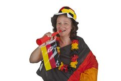 Female Soccer Fans Royalty Free Stock Photo