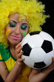 Female soccer fans Royalty Free Stock Photography