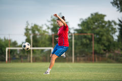 Female soccer Royalty Free Stock Photos