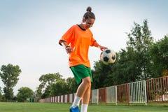 Female soccer Stock Images