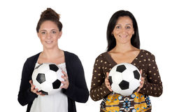 Female soccer players Royalty Free Stock Photo