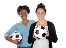 Female soccer players Royalty Free Stock Image