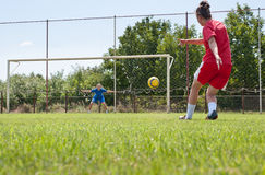 Female Soccer Players Stock Image