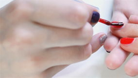Female soft hands with beautiful manicure stock video footage