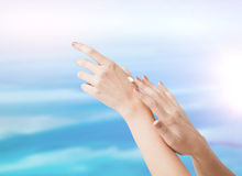 Female soft skin hands Royalty Free Stock Image