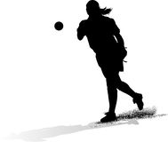 Female Softball Pitcher Silouette Royalty Free Stock Images