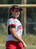Female Softball Player Stock Photo