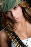 Female Soldier royalty free stock photos