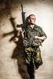 Female soldier Royalty Free Stock Image