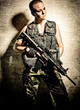 Female soldier Royalty Free Stock Images