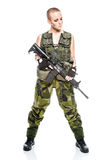 Female soldier Stock Image