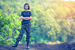 Female soldier Stock Images