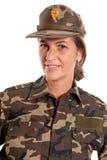 Female soldier portrait Stock Photos