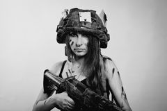 Female soldier Royalty Free Stock Photography
