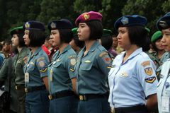 Female soldiers Royalty Free Stock Images