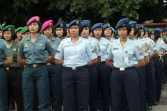 Female soldiers Royalty Free Stock Photography
