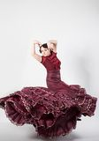 Female spanish flamenco dancer Stock Images