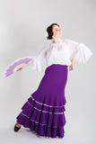 Female spanish flamenco dancer Stock Photo