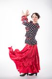 Female spanish flamenco dancer Royalty Free Stock Photos
