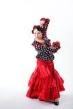 Female spanish flamenco dancer Royalty Free Stock Image