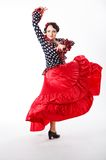 Female, spanish flamenco dancer Royalty Free Stock Photos