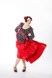 Female, spanish flamenco dancer Stock Photography