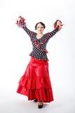 Female spanish flamenco dancer Stock Images