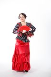 Female spanish flamenco dancer Royalty Free Stock Photography